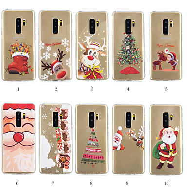 Case For Samsung Galaxy S9 Plus / S8 Plus Pattern Back Cover Christmas Soft TPU for S9 / S9 Plus / S8 Plus