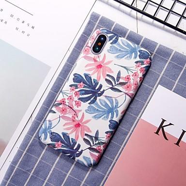 cas pour apple iphone xr xs xs max motif de couverture arrière fleur dure pc pour iphone x 8 8 plus 7 7plus 6s 6s plus se 5 5s