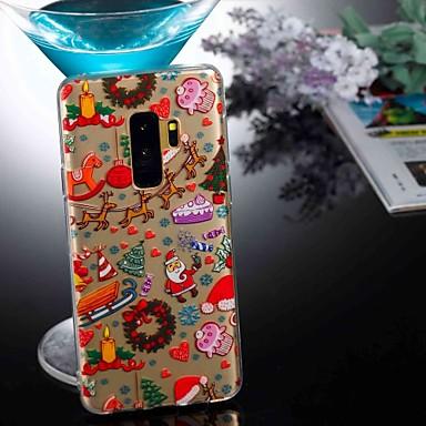 Недорогие Чехлы и кейсы для Galaxy S6 Edge-Кейс для Назначение SSamsung Galaxy S9 / S9 Plus / S8 Plus Прозрачный / С узором Кейс на заднюю панель Рождество Мягкий ТПУ