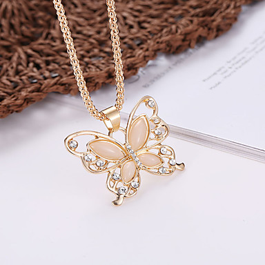 0976a56abc9 cheap Necklaces-Women's Statement Necklace Hollow Out Butterfly Ladies  Dangling Fashion