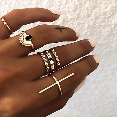 billige Damesmykker-Dame Knokering / Ring Set / Multi-fingerring 6pcs Gull / Sølv Harpiks / Legering Sektor damer / Vintage / Punk Gave / Daglig / Gate Kostyme smykker
