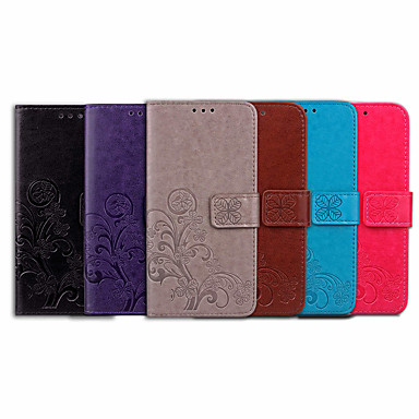 voordelige Hoesjes / covers voor Sony-hoesje Voor Sony Sony Xperia XZ2 Premium Kaarthouder / Flip Volledig hoesje Effen / Mandala Zacht PU-nahka