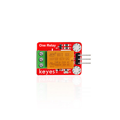 Keyes 5V single relay module (pad hole) red