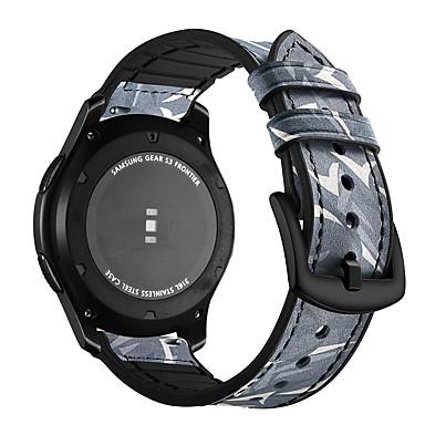 Недорогие Часы для Samsung-Ремешок для часов для Gear S3 Frontier / Gear S3 Classic / Gear S3 Classic LTE Samsung Galaxy Современная застежка силиконовый / Натуральная кожа Повязка на запястье