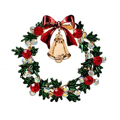 billige Damesmykker-Dame Nåler Klassisk Klokke damer Stilfull Klassisk Strass Brosje Smykker Gull Til Jul Daglig