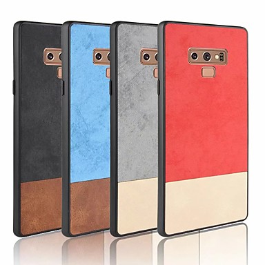 Недорогие Чехлы и кейсы для Galaxy Note 4-Кейс для Назначение SSamsung Galaxy Note 9 / Note 8 / Note 4 Матовое Кейс на заднюю панель Однотонный Мягкий Кожа PU