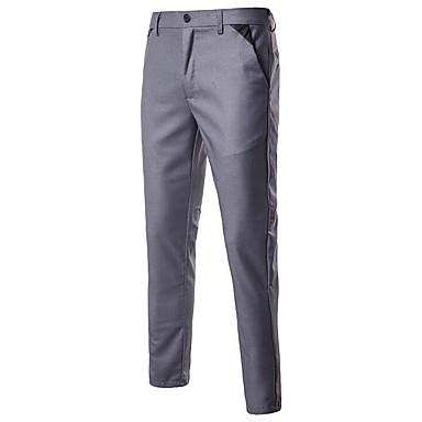 b631626fa رجالي أساسي مناسب للبس اليومي الرياضة بدلة بنطلون - لون سادة أسود أحمر  رمادي L XL