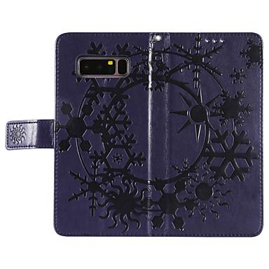 Недорогие Чехлы и кейсы для Galaxy Note 3-Кейс для Назначение SSamsung Galaxy Note 8 Кошелек / Бумажник для карт / со стендом Чехол Однотонный Твердый Кожа PU для Note 8 / Note 4 / Note 3