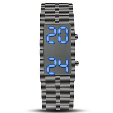 Недорогие Часы на металлическом ремешке-Муж. Спортивные часы Наручные часы электронные часы Цифровой Нержавеющая сталь Черный Секундомер Творчество Новый дизайн Цифровой Винтаж Кольцеобразный - Черный Один год Срок службы батареи