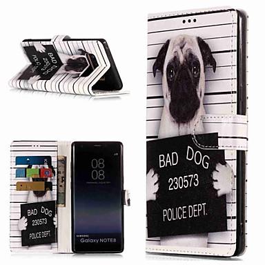 voordelige Galaxy Note-serie hoesjes / covers-hoesje Voor Samsung Galaxy Note 9 / Note 8 Portemonnee / Kaarthouder / met standaard Volledig hoesje Hond Hard PU-nahka