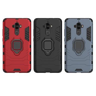 voordelige Huawei Mate hoesjes / covers-hoesje Voor Huawei Mate 9 Schokbestendig / Ringhouder Achterkant Effen / Schild Hard PC