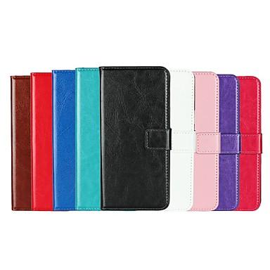 Недорогие Чехлы и кейсы для Galaxy S4 Mini-Кейс для Назначение SSamsung Galaxy S9 / S9 Plus / S8 Plus Бумажник для карт / со стендом / Флип Чехол Однотонный Твердый Кожа PU