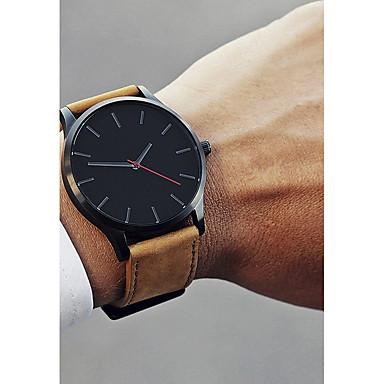 Herrn Uhr Kleideruhr Armbanduhr Quartz Leder Schwarz / Braun 30 m Neues Design Armbanduhren für den Alltag Cool Analog Klassisch Freizeit Modisch Kaffee Schwarz / Weiß Weiß / Braun / Ein Jahr