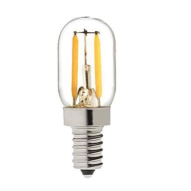 Недорогие Налобные светодиодные лампы-KWB 1 W Круглые LED лампы 150-200 lm E14 S14 2 Светодиодные бусины COB Диммируемая Тёплый белый 220-240 V / 1 шт. / RoHs