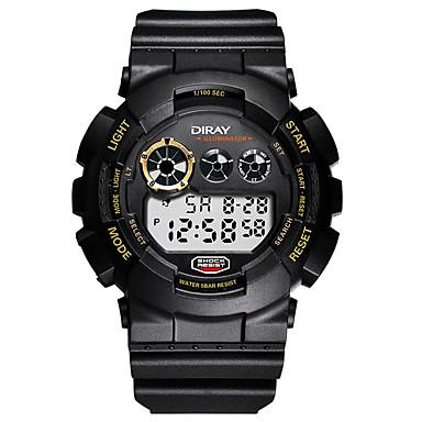 Χαμηλού Κόστους Ανδρικά ρολόγια-Ανδρικά Αθλητικό Ρολόι Ψηφιακό ρολόι Ιαπωνικά Ψηφιακό Συνθετικό δέρμα με επένδυση Μαύρο / Μπλε / Γκρι 50 m Ανθεκτικό στο Νερό Ημερολόγιο Χρονογράφος Ψηφιακό Βραχιόλι Μοντέρνα - Μπλε Χρυσό / Μαύρο Χακί