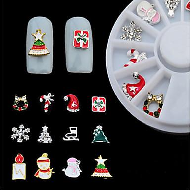 12 pcs Bijoux pour ongles Multi Fonction / Meilleure qualité Costumes de père noël Créatif Manucure Manucure pédicure Noël / Festival Mode