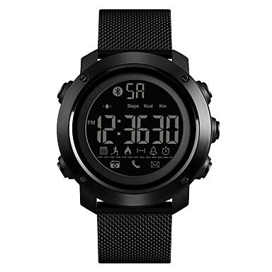 Χαμηλού Κόστους Ανδρικά ρολόγια-SKMEI Ανδρικά Αθλητικό Ρολόι Στρατιωτικό Ρολόι Ψηφιακό ρολόι Ψηφιακό Ανοξείδωτο Ατσάλι Μαύρο 50 m Ανθεκτικό στο Νερό Bluetooth Συναγερμός Ψηφιακό Πολυτέλεια Μοντέρνα - Μαύρο / Ενας χρόνος