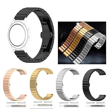 voordelige Smartwatch-accessoires-Horlogeband voor Gear Sport / Gear S2 Classic Samsung Galaxy Sportband / Butterfly Buckle Roestvrij staal Polsband