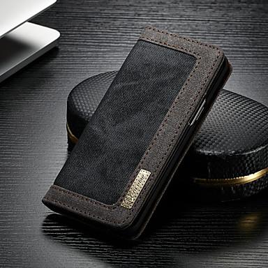 voordelige Galaxy S-serie hoesjes / covers-hoesje Voor Samsung Galaxy S9 Plus Portemonnee / Kaarthouder / met standaard Volledig hoesje Effen Hard tekstiili