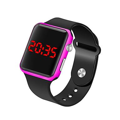 levne Pánské-Pánské Náramkové hodinky Digitální hodinky Digitální Silikon Černá 30 m Voděodolné LCD Digitální Módní Minimalistické - Fuchsiová Modrá Růžové zlato