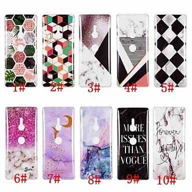 voordelige Hoesjes / covers voor Sony-hoesje Voor Sony Sony Xperia XZ3 / Xperia XZ2 / Xperia XA2 Ultra IMD / Patroon Achterkant Marmer Zacht TPU