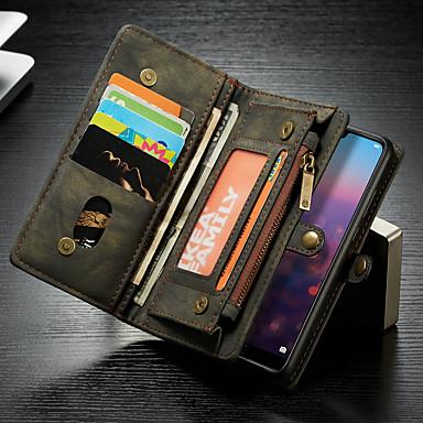 economico Custodie per tablet-CaseMe Custodia Per Huawei MediaPad P20 lite A portafoglio / Porta-carte di credito / Con supporto Integrale Tinta unita Resistente pelle sintetica per Huawei P20 lite