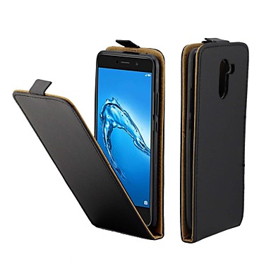 voordelige Huawei Y-serie hoesjes / covers-hoesje Voor Huawei Huawei Y7 Prime(Enjoy 7 Plus) Kaarthouder / Flip Volledig hoesje Effen Hard PU-nahka