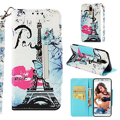 voordelige Huawei Mate hoesjes / covers-hoesje Voor Huawei Mate 10 lite Portemonnee / Kaarthouder / Flip Achterkant Eiffeltoren Hard PU-nahka