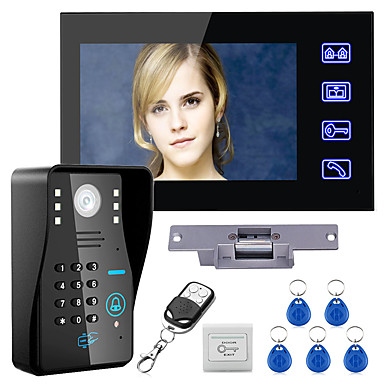 halpa Lukitusjärjestelmät-Johto 7 inch Hands-free 960*480 Pixel One to One video ovipuhelin