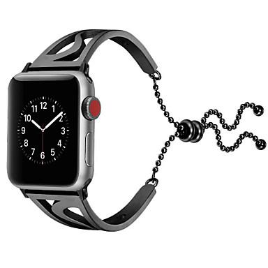 Недорогие Ремешки для Apple Watch-Ремешок для часов для Apple Watch Series 4/3/2/1 Apple Бабочка Пряжка Металл Повязка на запястье