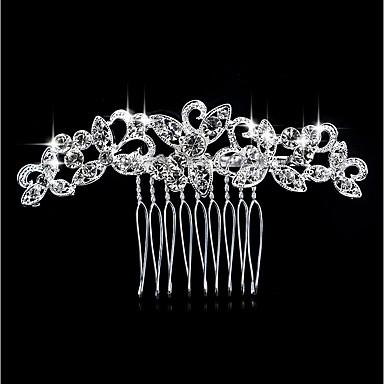 abordables Bijoux Cheveux-Femme Imitation de perle Strass Alliage Mode Peigne-Fleur / Forme de Feuille