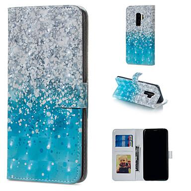 Недорогие Чехлы и кейсы для Galaxy S6 Edge-Кейс для Назначение SSamsung Galaxy S9 / S9 Plus / S8 Plus Кошелек / Бумажник для карт / со стендом Чехол Градиент цвета Твердый Кожа PU