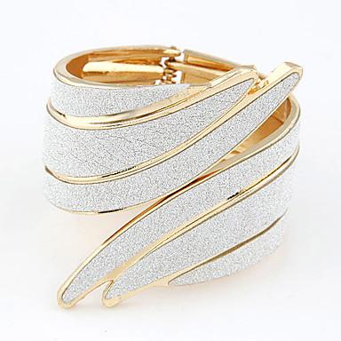 economico Bracciali-Braccialetti Wide Bangle Incavato Manette Importante Donne Vintage Da serata Aperto Lega Gioielli braccialetto Bianco Per Regali di Natale