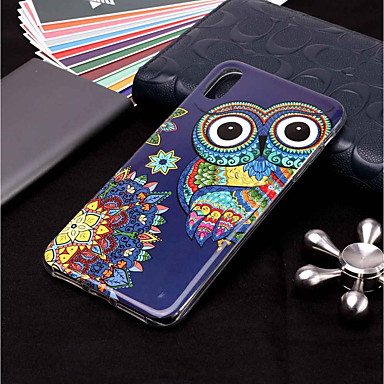 voordelige iPhone 7 hoesjes-hoesje Voor Apple iPhone XS / iPhone XR / iPhone XS Max Glow in the dark / Patroon Achterkant dier / Uil Zacht TPU