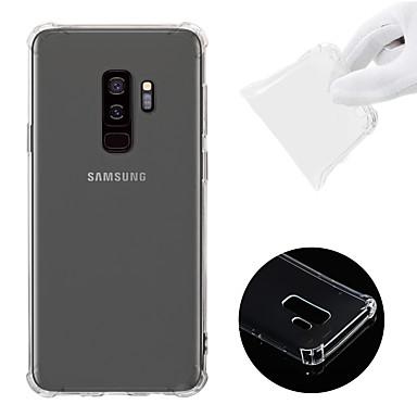 voordelige Galaxy S-serie hoesjes / covers-hoesje Voor Samsung Galaxy S9 Plus Schokbestendig / Transparant Achterkant Effen Zacht TPU
