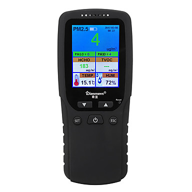 DM106 Multi-Functional LCD Formaldehyde TVOC Detector Gas Tester Monitor PM2.5 PM1.0 PM10 Tester