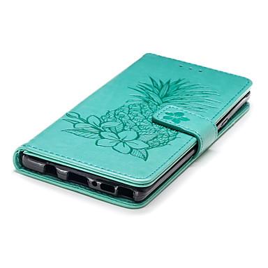 voordelige Galaxy Note-serie hoesjes / covers-hoesje Voor Samsung Galaxy Note 9 Portemonnee / Kaarthouder / met standaard Volledig hoesje Fruit / Bloem Hard PU-nahka