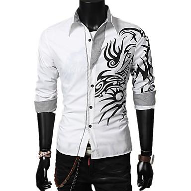 Men's Basic Shirt - Geometric / Color Block
