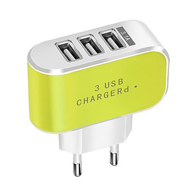 портативное зарядное устройство / USB зарядное устройство ес штекер нормальный 3 порта usb 3.1 a dc 5v для мобильного телефона планшета