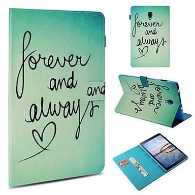 voordelige Samsung Tab-serie hoesjes / covers-hoesje Voor Samsung Galaxy Tab 4 10.1 / Tab S4 10.5 (2018) / Tab A 9.7 Portemonnee / Kaarthouder / Schokbestendig Volledig hoesje Woord / tekst Hard PU-nahka