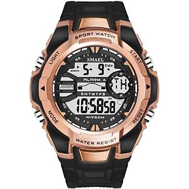 levne Pánské-Pánské Sportovní hodinky Digitální hodinky Digitální Z umělé kůže Černá / Modrá / Červená Voděodolné Svítící Velký ciferník Digitální Na běžné nošení Módní - Zelená Modrá Černá / Růžové zlato