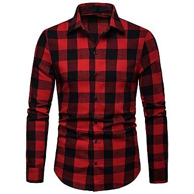 Men's Basic Shirt - Striped / Color Block