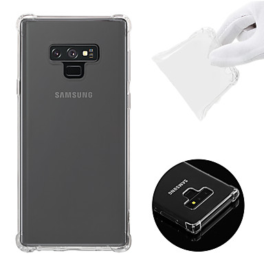 voordelige Galaxy Note-serie hoesjes / covers-hoesje Voor Samsung Galaxy Note 9 Schokbestendig / Transparant Achterkant Effen Zacht TPU