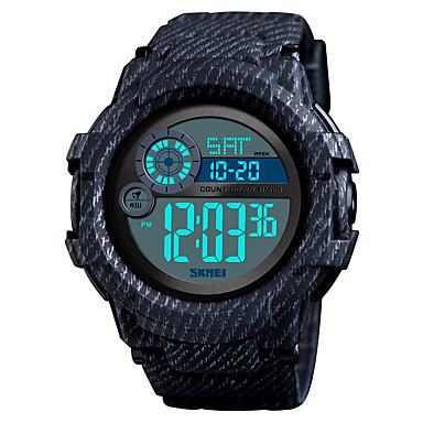 Χαμηλού Κόστους Ανδρικά ρολόγια-SKMEI Ανδρικά Αθλητικό Ρολόι Στρατιωτικό Ρολόι Ψηφιακό ρολόι Ψηφιακό σιλικόνη Μαύρο / Μπλε 50 m Συναγερμός Ημερολόγιο Χρονογράφος Ψηφιακό Καθημερινό Μοντέρνα - Κόκκινο Πράσινο Μαύρο / Μπλε