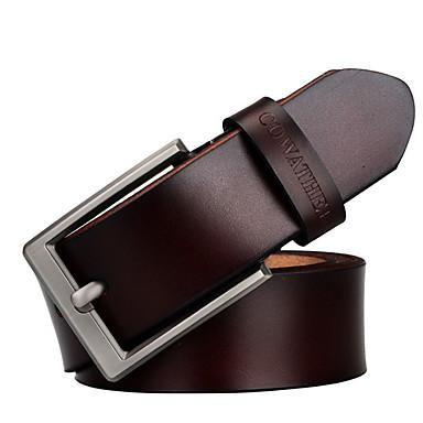baratos Roupa de Homem Moderna-Homens Básico Cinto para a Cintura Sólido