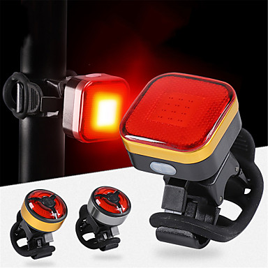 cheap Bike Lights-LED Bike Light LED Light Rear Bike Tail Light Safety Light Mountain Bike MTB Cycling Waterproof Portable USB Rechargeable Li-Ion Battery 120 lm Orange Camping / Hiking / Caving Cycling / Bike - WEST