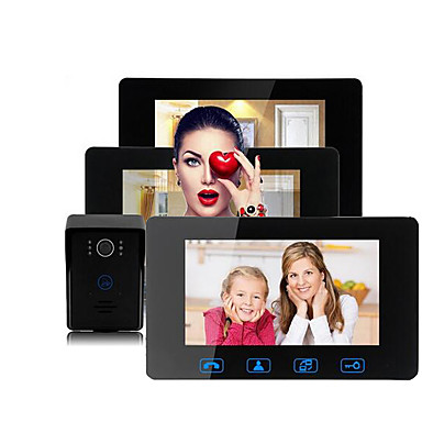 povoljno Sustavi kontrole pristupa-Factory OEM Žičano Ugrađeni iz Sabora 7 inch Hands-free One to Three video doorphone