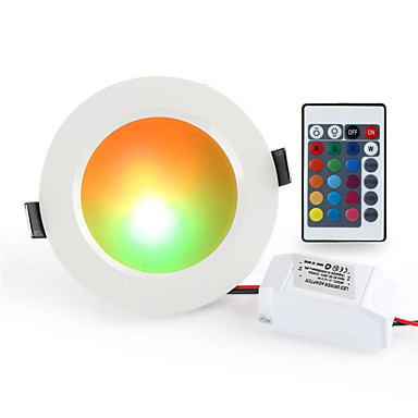 1pc 10 W 900-1000 lm 10 LED Beads Remote Control / RC Dimmable Easy Install LED Downlights RGB+White 85-265 V Ceiling Commercial Home / Office