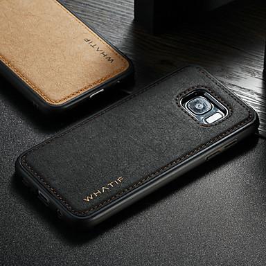 voordelige Galaxy S-serie hoesjes / covers-hoesje Voor Samsung Galaxy S7 edge Waterbestendig / Schokbestendig / DHZ Achterkant Effen Hard PU-nahka