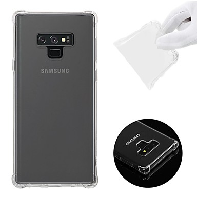 voordelige Galaxy Note-serie hoesjes / covers-hoesje Voor Samsung Galaxy Note 9 / Note 8 Schokbestendig / Transparant / Patroon Achterkant Effen Zacht TPU